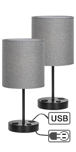 nightstand lamps for bedrooms set of 2