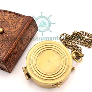 solid brass compass