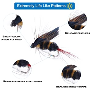fly fishing flies kit