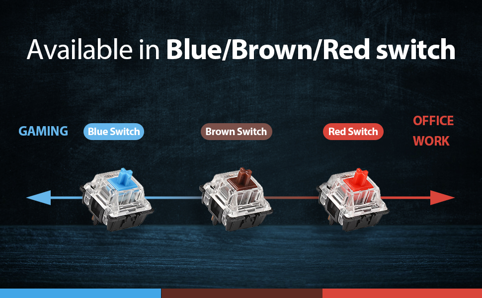 blue brown red switch