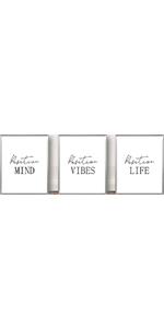 "Mind Positive Vibes Life Modern Minimalist of 3 Art Paintings 8""X10""  No Frame"