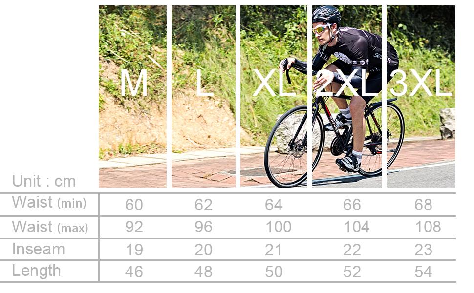 SKYSPER Pantalones Cortos de Ciclismo Bicicleta para Hombres ...