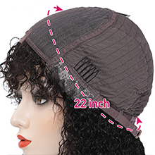 lace wigs with bangs human hair lace front wigs bangs for women curly wave wigs bangs human hair