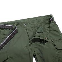 Water Repellent Ripstop Cargo Pants, Lightweight EDC Hiking Work Pants, Outdoor Apparel