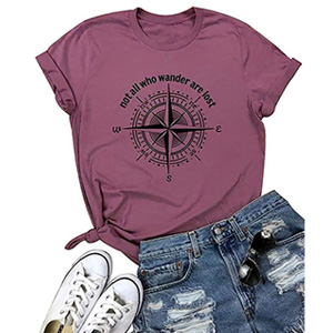 Compass Graphic Travel Tee Tops