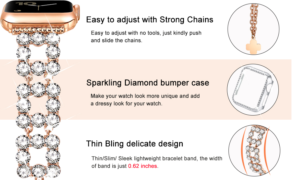 bling glitter band for Iwatch