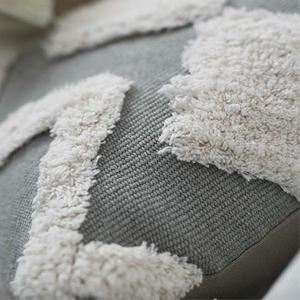 12x20 lumbar pillow sofa throw pillow cover square woven cotton pillow cover