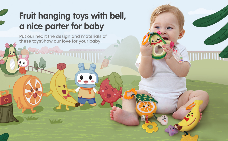 juguetes para colgar frutas