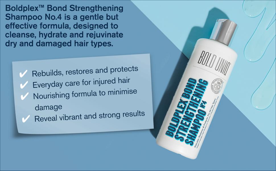 Bold Plex Bond posilňujúci proteín suché zafarbené krepaté lámané vlasy parabénsulfát