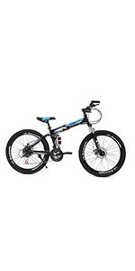 26 inch full suspension mountain bike for men and women