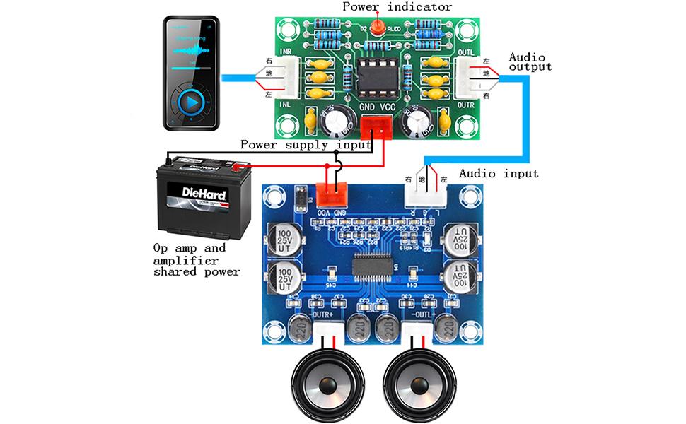 NE5532 audio preamp board