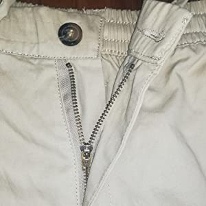 Buttoned and Metal zipper fly