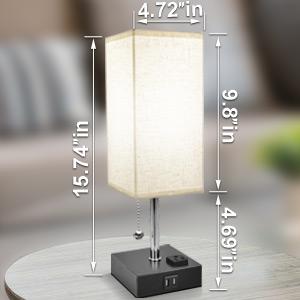 usb bedside lamp size