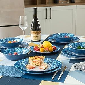 melamine plates set
