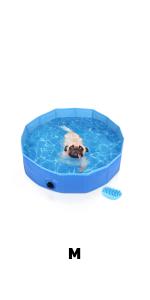 Pecute Piscina Perros y Gatos Bañera Plegable PVC Antideslizante y ...