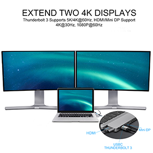 Crystal-Clear 4K Video & Supports 2 x Extended Monitor