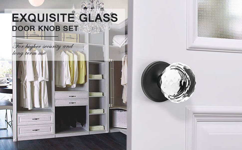 glass door knobs inactive door doorknob