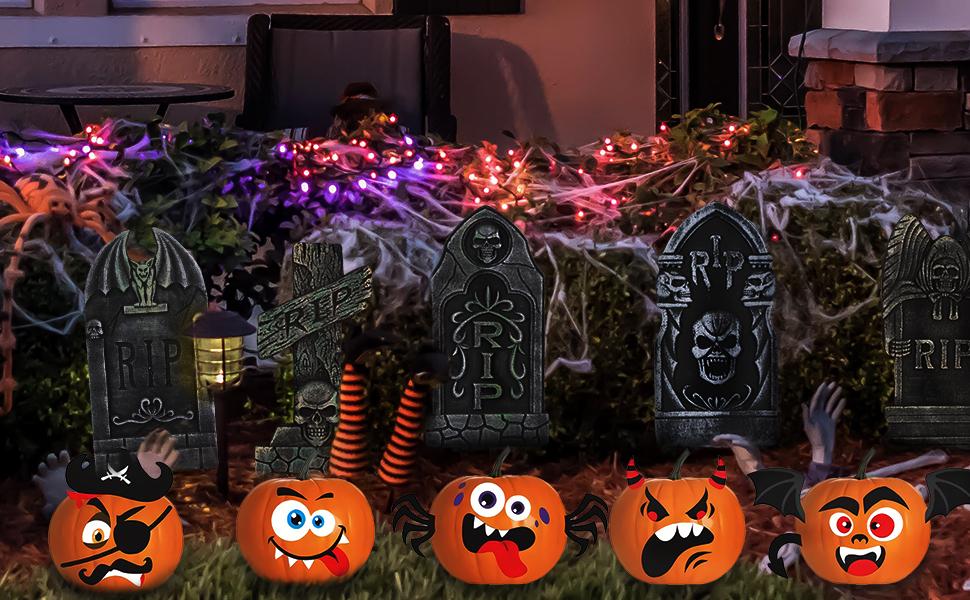 Halloween graveyard tombstone
