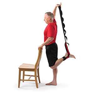 Standing quadricep stretch strap