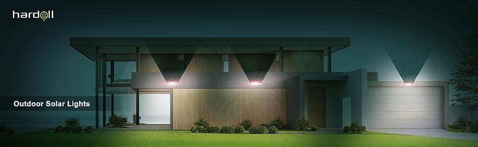 solar lights for home light outdoor garden lamp waterproof led lanterns with motion sensor street