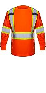 orange safety shirts for men long sleeve
