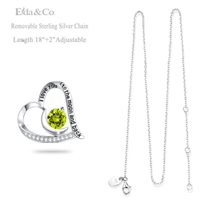 August Birthstone Necklace Fine Jewelry for her