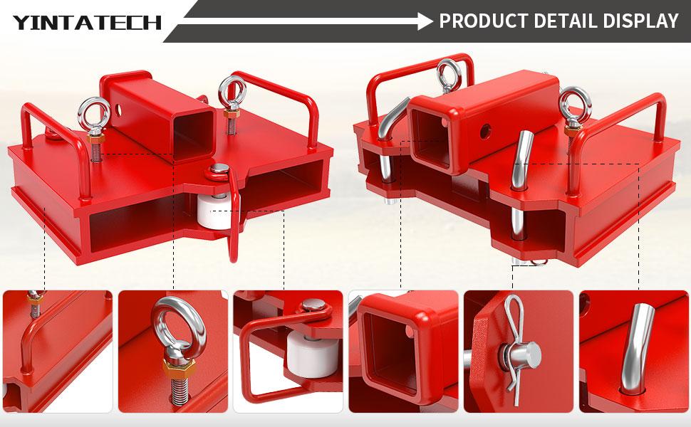 """2"""" trailer hitch receiver for pallet forks"""