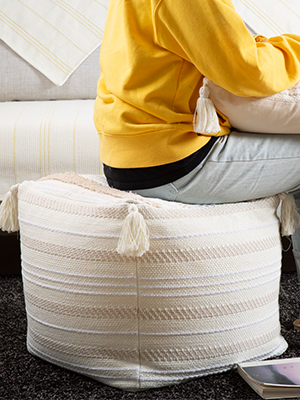 casual square pouf for living room bedroom kids room large floor pouffe ottoman giant boho tufted