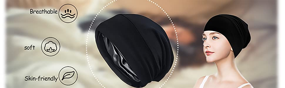 satin lined sleep cap