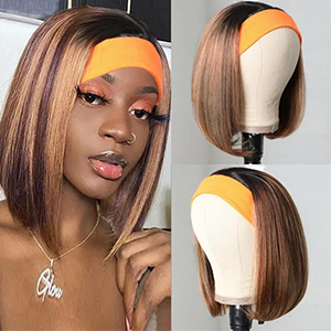 Short Straight Headband Wigs Colored