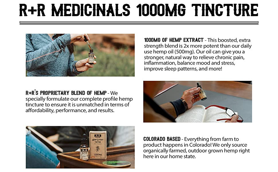 1000mg hemp oil, hemp oil 1000mg, thee pack hemp oil 1000mg, 3 pack hemp oil, r+r medicinals, rrmeds