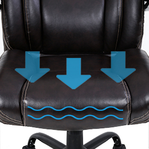 gaming_racing_computer_chair3  Big and Tall Office Chair 500lbs Wide Seat Ergonomic Desk Chair Task High Back Executive Chair Rolling Swivel PU Computer Chair with Lumbar Support Armrest Adjustable Chair for Heavy People, Brown dba74392 85c3 4eb0 bdba 69370ffc97fd