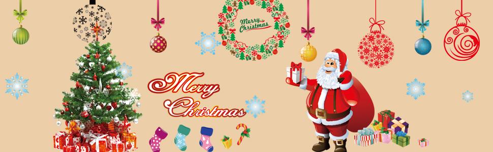 christmas tree santa showcase stickers