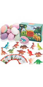 Bath Bombs for Kids with Dinosaur Toys