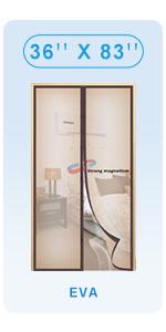 enhanced magnet screend door