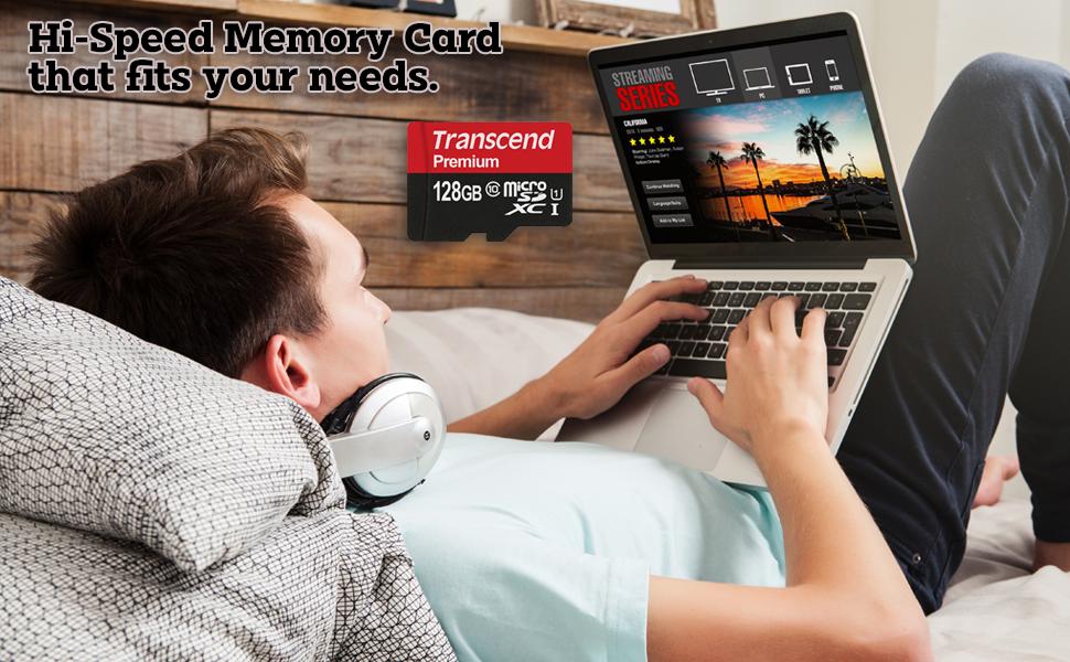 Transcend 128gb 256gb Micro SD Memory Card 128 256 gb Class 10 UHS-1 adapter MicroSD MicroSDXC