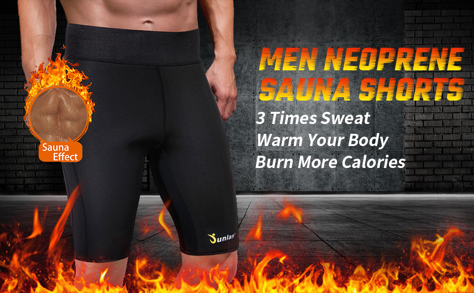 Junlan Men's Weight Loss Sauna Hot Sweat Thermo Shorts (1)