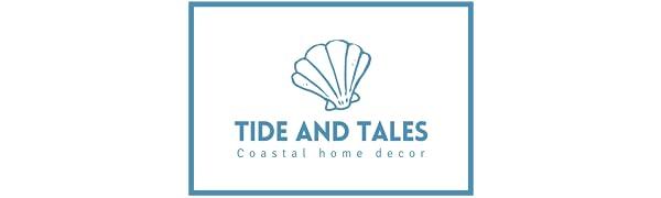 Tide and Tales logo beach decor