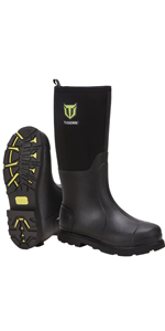 TideWe Rubber Work Boots with Steel Shank