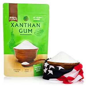 xanthan gum features made in usa, sauses, dressing, smoothies, non-gmo, soups, baking, bread