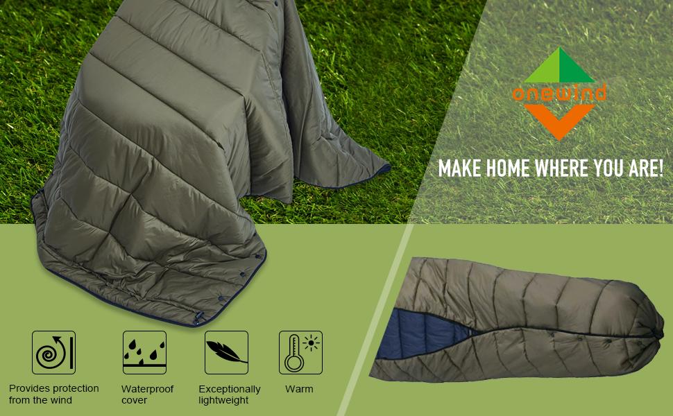 onewind Topquilt Hammock Camping Top Quilt Camping Quilt Over Quilt Sleeping Un-Bag