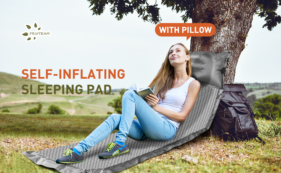 FRUITEAM double sleeping pad camping mat sleeping mat pad for 2 person for hiking camping backpack