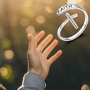 faith cross ring