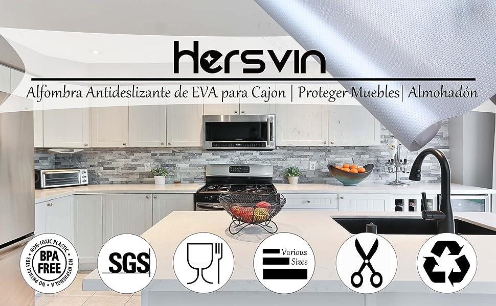 IMS 60 x 200CM EVA Plastico Protector para Cocina Cajones Alfombras Antideslizante Non Adhesivo para Mueble Gris Revestimiento Antideslizante para Caj/ón Organizador Alfombrillas para Fregadero