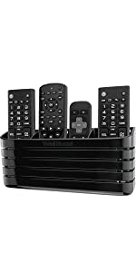 TotalMount Hole-Free Remote Holder (for 3 or 4 Remotes - Black - Quantity 1)