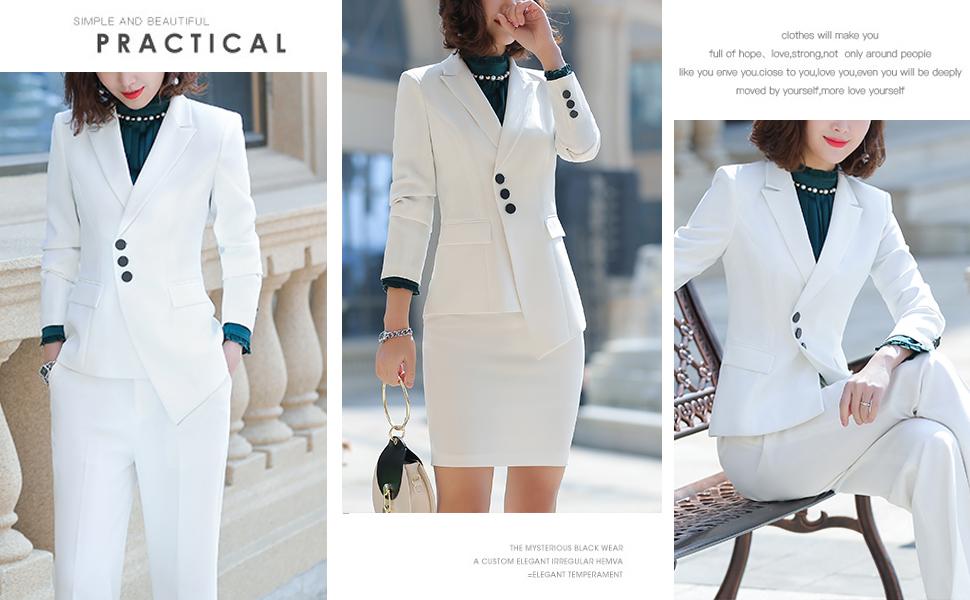 white women blazer suits