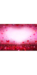 Romantic Red Love Heart Photography Backdrop 7x5ft Photo Booths Supplies