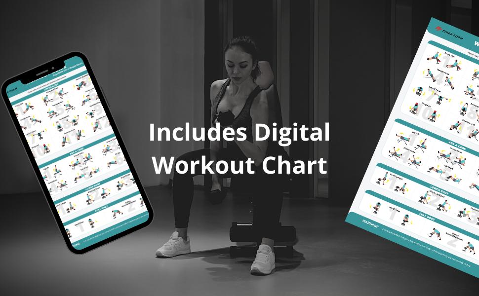 free workout chart