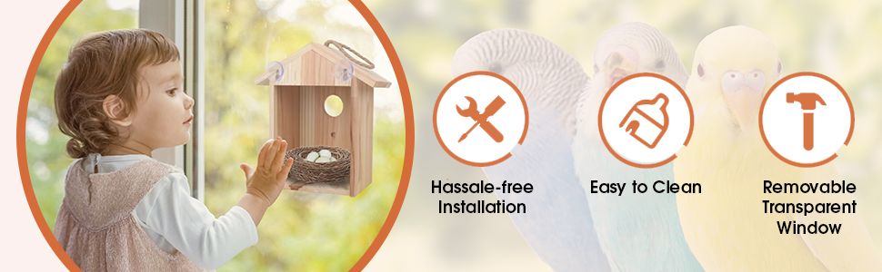 Hassle-Free Installation Easy to Clean Removable Transparent Window
