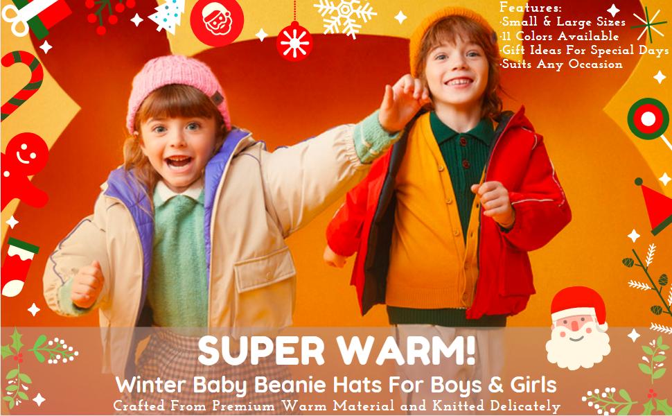 Extra Warm Baby Hats Beanie 0-6 Months 6-12 Months 12-24 Months